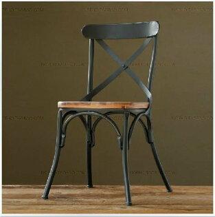 《Chair Empire》 Loft風 法國工業風 水管 茶几 法式鐵藝咖啡椅 做舊 鐵藝餐椅 鐵椅 X型背 X CHAIR