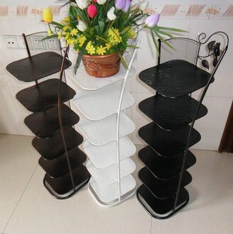 《Chair Empire》 Loft風 法國工業風鐵藝鞋架多層六層鞋架鞋櫃 角落收納轉角鞋架 置物架