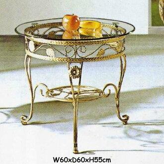 《Chair Empire》茶几桌 鍛造桌 庭院桌 實心鐵條+強化玻璃 餐桌 編號625 免運
