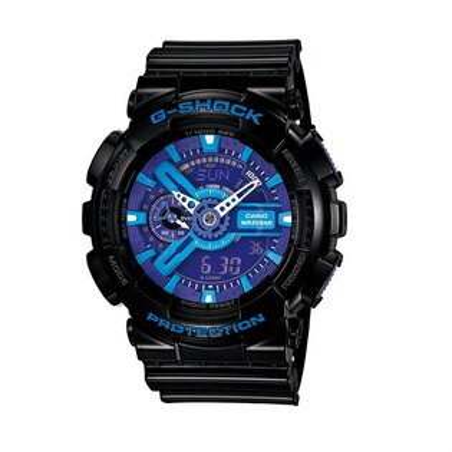 CASIO G-SHOCK GA-110HC-1AHDR黑藍街頭流行腕錶/51mm
