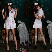 萬聖節Halloween到歐美萬聖節恐怖流血護士服裝COS服角色扮演血腥鬼節服裝halloween