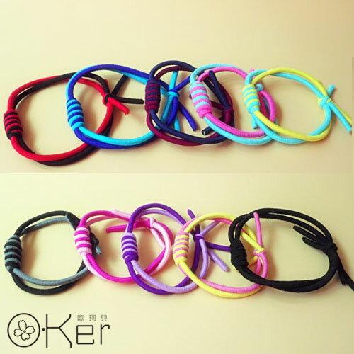 韓國手工編織彈性髮圈 髮飾手環 O-Ker KAF322