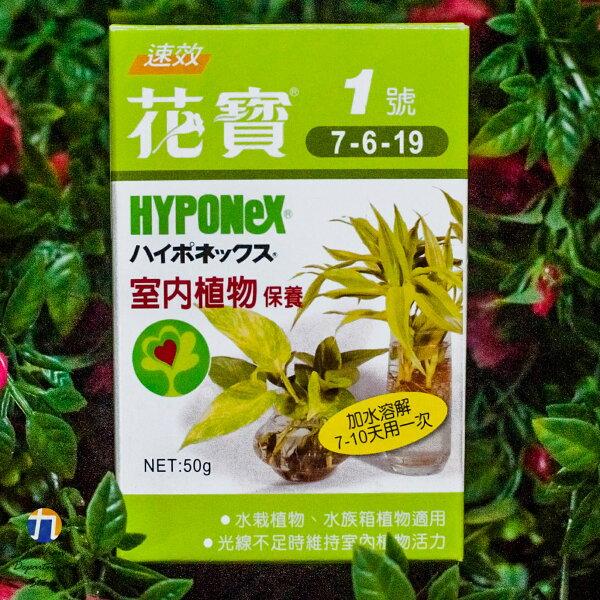 {九聯百貨} 花寶牌 花寶1號 (7-6-19) 室內植物保養用 肥料 50公克 1入