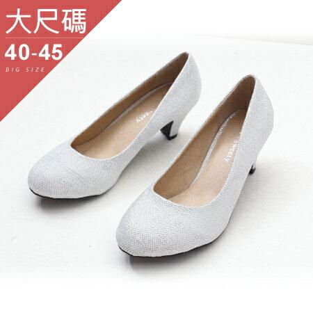 中大尺碼-女鞋-人氣商品?百搭時尚中跟鞋-新娘鞋-貝格小站-丫丫SWEETY