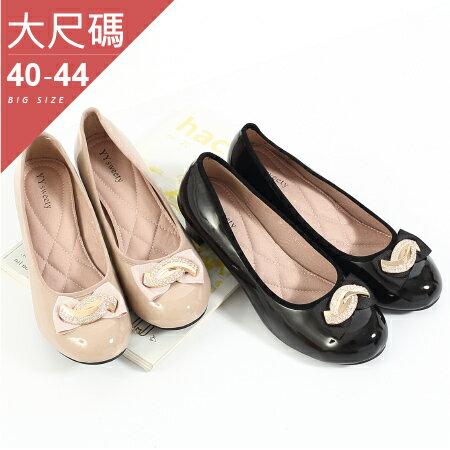 中大尺碼-女鞋-鑲鑽金屬設計中跟鞋-貝格小站-丫丫SWEETY