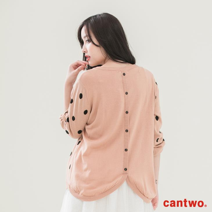 cantwo滿版點點長袖針織上衣(共三色) 3