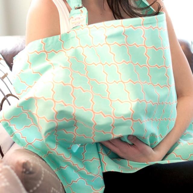美國【Mothers Lounge】美型哺乳巾 (芽綠薄荷) 0