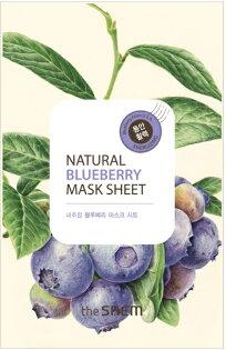 韓國the SAEM Natural 美顏藍莓面膜 21ml Natural Blueberry Mask Sheet (New)【辰湘國際】