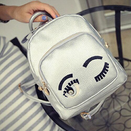 後背包-韓版翹眉毛大眼睛可愛卡通小包 包飾衣院 P1445