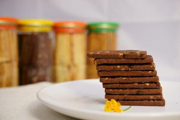 【扛餅乾】巧克力杏仁手工餅乾