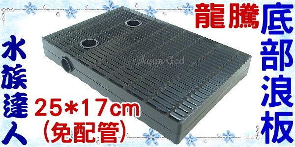 【水族達人】龍騰《新款傾斜式雙層集塵組合浪板25*17cm(免配管)》