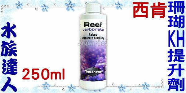 【水族達人】西肯《Reef carbonate珊瑚KH提升劑.250ml》海水缸必備!