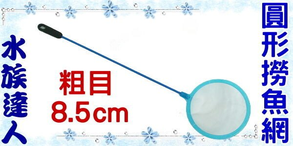 【水族達人】《粗目圓形撈魚網8.5cm》養魚必備品!