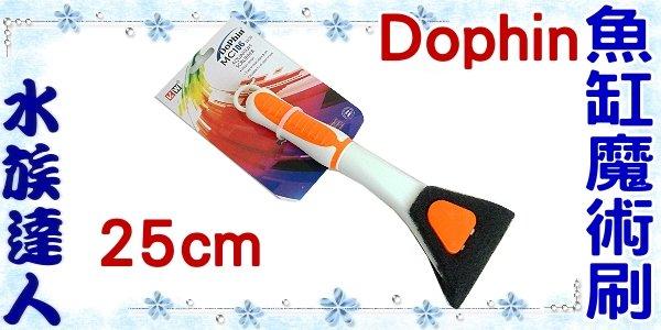 【水族達人】海豚Dophin《MC106 魚缸魔術刷 25cm》青苔刮除刷/清潔刷