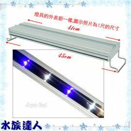 【水族達人】海薩 HEXA《S-450亮點LED上部燈12W(3W*4)1.5尺/藍白》S450 跨燈 41~49cm魚缸適用