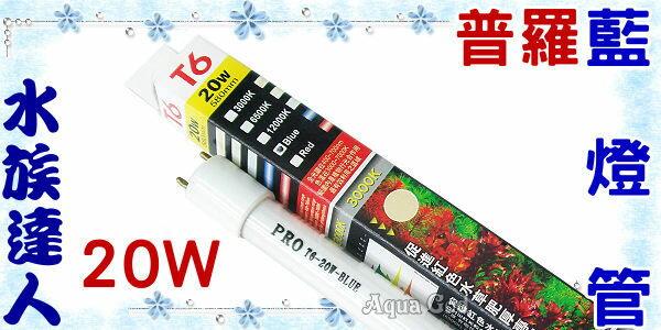 【水族達人】【T6燈管】普羅《藍燈管.20W》 超明亮!