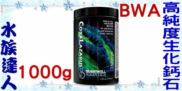 【水族達人】BWA《高純度生化鈣石.1000g.W216》可搭配鈣反應器使用
