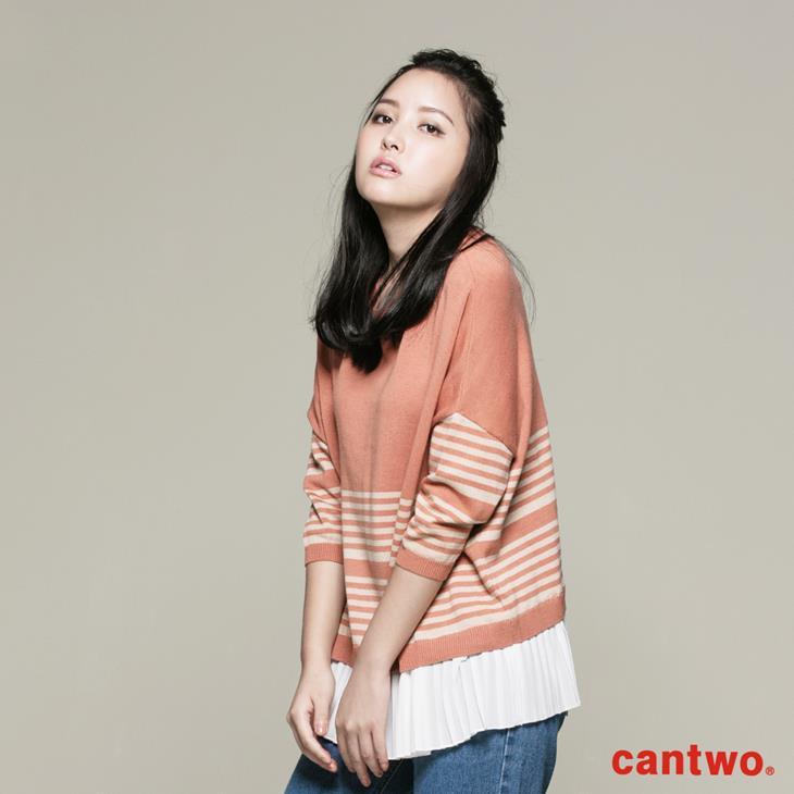 cantwo條紋後釦針織上衣(共三色) 2