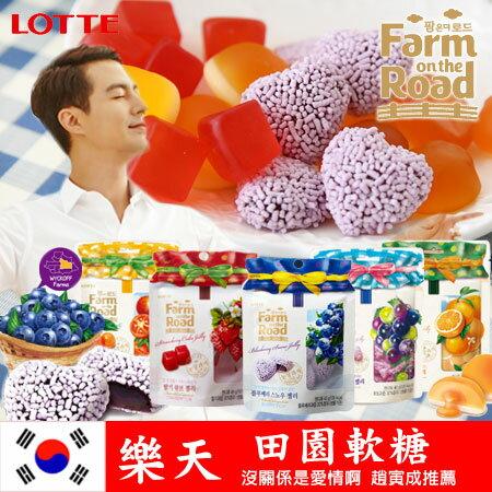 韓國 lotte樂天 田園軟糖 (40g) 水果軟糖 Farm on the road 趙寅成推薦 進口零食【N101101】