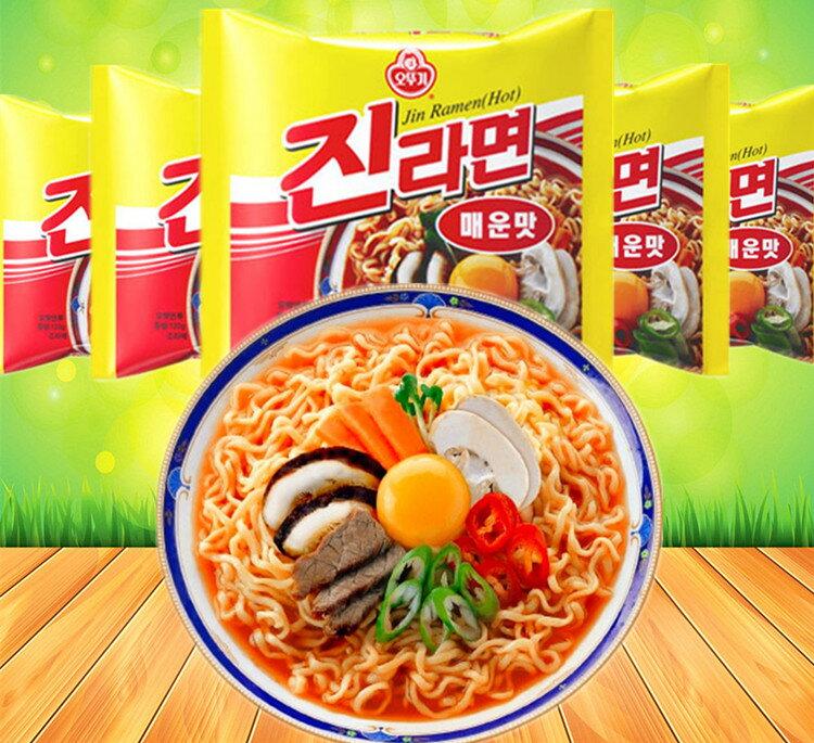 有樂町進口食品  韓國不倒翁(OTTOGI)金拉麵 辣味 8801045520124 0