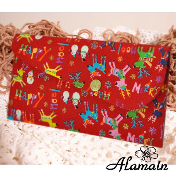 艾拉蔓_聖誕麋鹿_嚴選日本進口布紅包袋、手創錢袋、手作收藏袋,送禮自用_采靚精品鞋飾