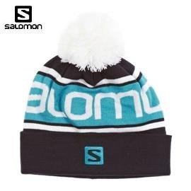 [ Salomon ] Free Beanie 帽 藍 / 絨球帽 / 反折帽 / 公司貨 353022