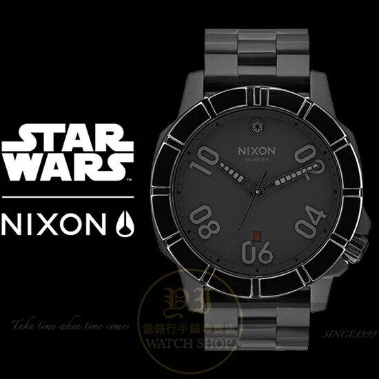 NIXON x STAR WARS  Imperial Pilot Black限量聯名腕錶A506SW-2242公司貨/極限運動/收藏款