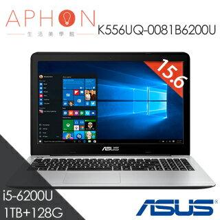 【Aphon生活美學館】ASUS K556UQ-0081B6200U 15.6吋 i5-6200U Win10 筆電-送office365個人版+4G記憶體(需自行安裝)