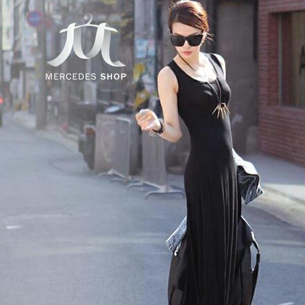 梅西蒂絲 -性感露背大V長洋裝