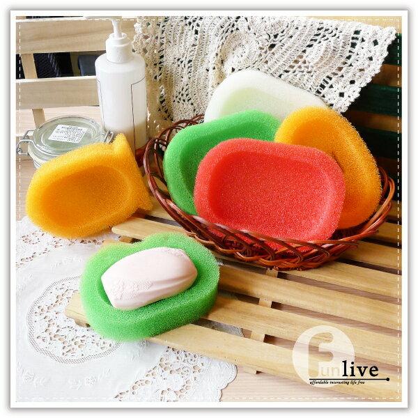 【aife life】B版海綿軟皂盒/刷洗兩用皂盒/造型肥皂盒/瀝水皂盒/肥皂架/海綿菜瓜布/廚房衛浴用品
