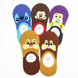 迪士尼 船型襪 短襪 襪子 成人 後腳跟矽膠止滑 巴斯光年 史迪奇 米奇 奇奇蒂蒂 39元 * JustGirl *