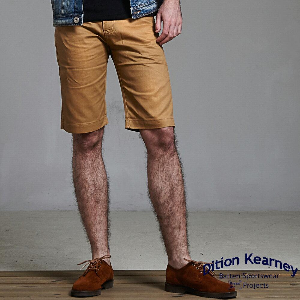 DITION SHOP 美式休閒釘釦素色工作短褲 水洗 經典款有大尺碼 2