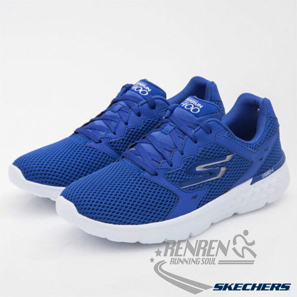 SKECHERS 男慢跑鞋 Go Run 400 (藍) 避震緩衝 透氣