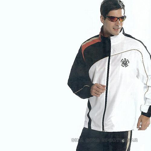 義大利名牌SINA COVA男女平織網裡運動服套裝-全套(白黑)#S8202AB - 限時優惠好康折扣