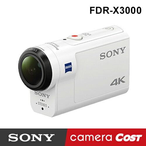 【4K防水】SONY FDR-X3000 4K 攝影機 公司貨 送SanDisk64G+副電+座充超值組 X3000 防水 - 限時優惠好康折扣