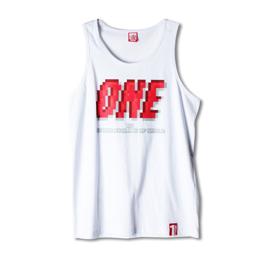 STAGEONE PIXELATE TANK TOP 黑色/白色 兩色 2