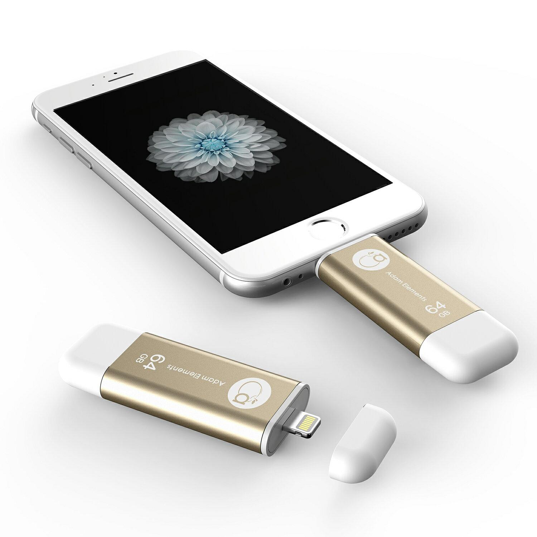 【亞果元素】iKlips iOS系統專用USB 3.0極速多媒體行動碟 64GB 金色 2