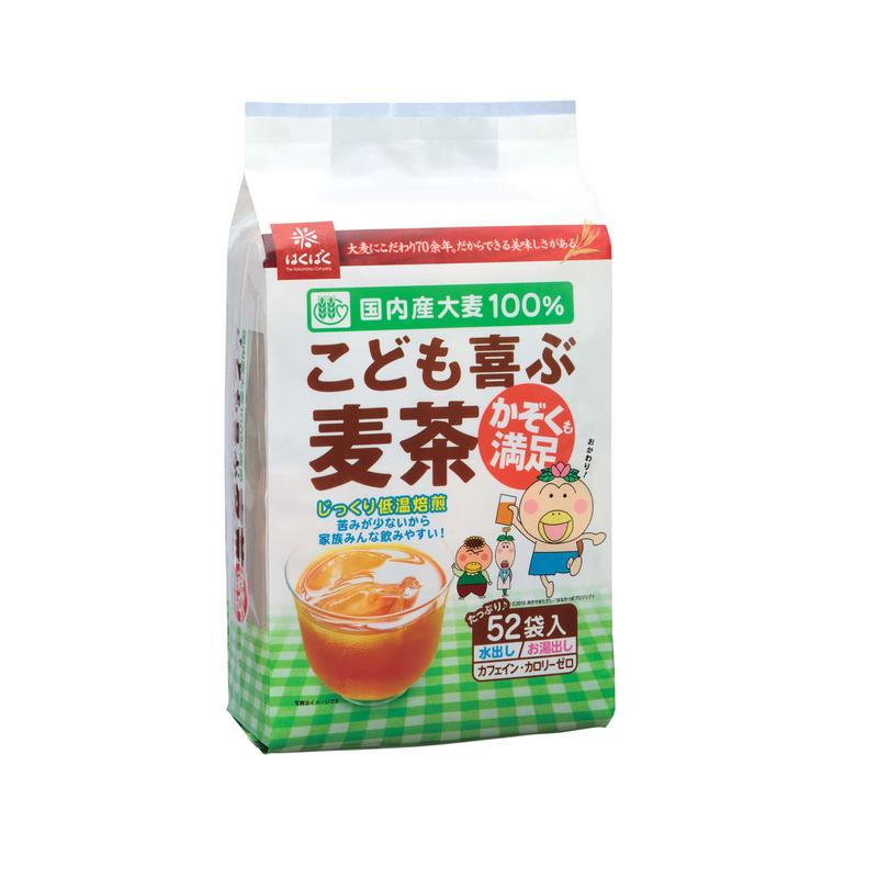 有樂町進口食品 日本進口 HAKUBAKU 52袋麥茶包 416g 4902571271253 1