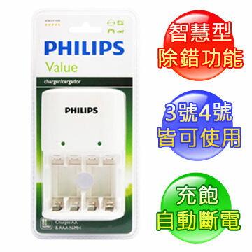 PHILIPS 飛利浦 SCB1411WB 白 經濟型鎳氫電池充電器 [天天3C]