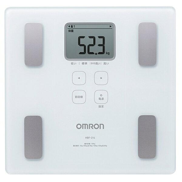 OMRON歐姆龍體脂肪計HBF-214(白色),8/31前限量贈送杯緣的安心亞