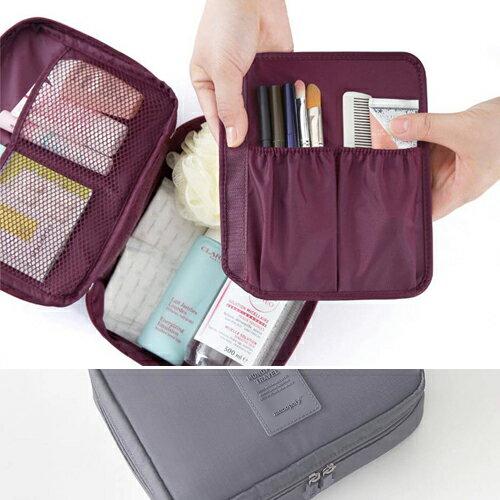 收納袋 簡約手拿包可掛式多功能化妝包【MJMJA-009】 BOBI  05/12 - 限時優惠好康折扣