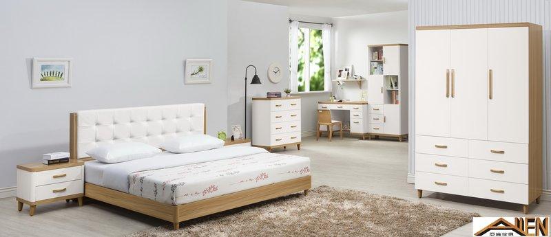 亞倫傢俱*安摩爾6尺雙人床架 (床頭片款) 2