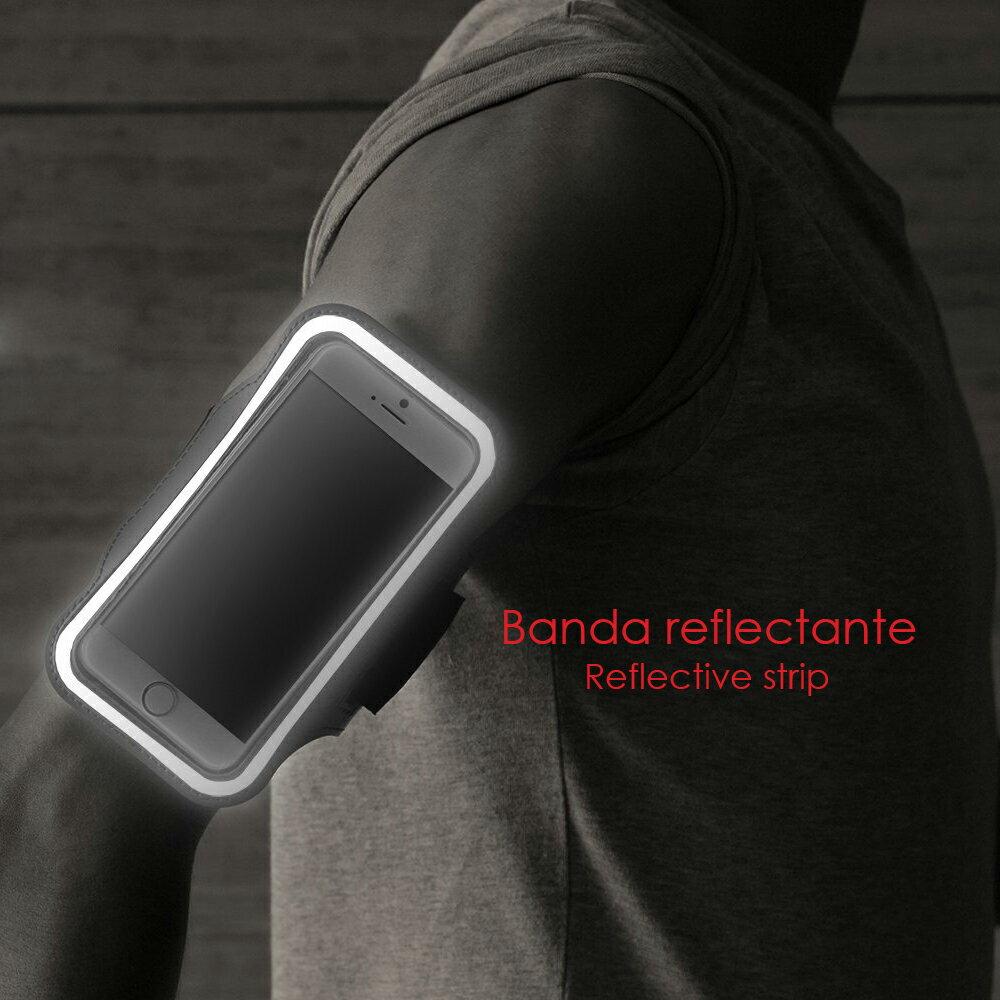 BRAZALETE DEPORTIVO DE NEOPRENO AZUL PARA SMARTPHONES – TALLA XL 5
