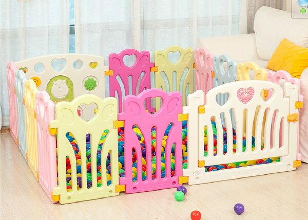麻麻乖寶貝 ST認證 兒童圍欄 遊戲圍欄 護欄 柵欄 門欄 遊戲池 14片 (12小+2大)