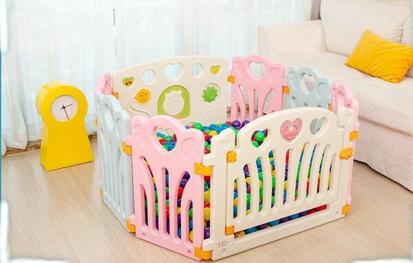 麻麻乖寶貝 ST認證 兒童圍欄 遊戲圍欄 護欄 柵欄 門欄 遊戲池 8片 (6小+2大)