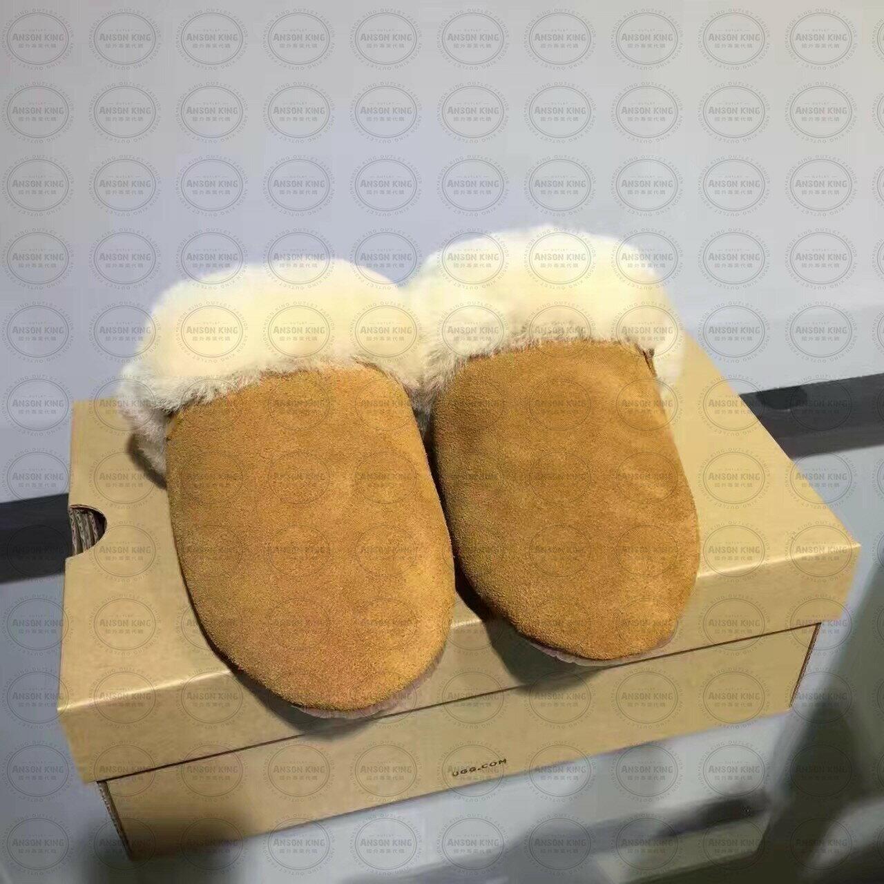 OUTLET代購 UGG 毛毛居家拖鞋 懶人鞋 真皮羊皮毛 雪靴 長靴 短靴 駝色 1