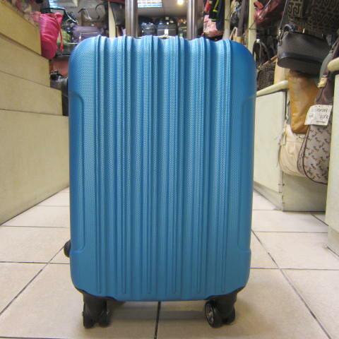 ~雪黛屋~Debaoli 20吋旅行箱P.C防水防刮硬殼箱八輪360度旋轉鋁合金多段拉桿 DB168 金屬藍