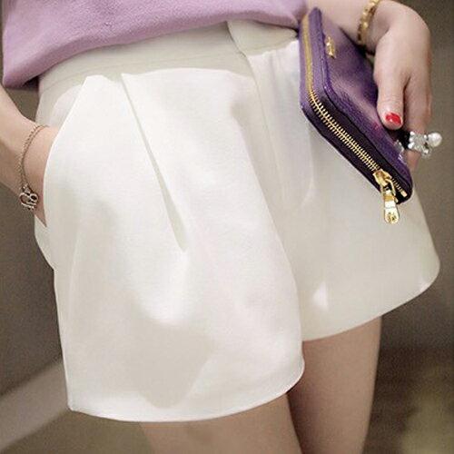 ☆BOBI☆02/01韓版簡約個性純色素面西裝短褲【NU5189】 0