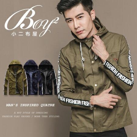 ☆BOY-2☆ 【OE58005】美式拼接立領軍裝外套 1
