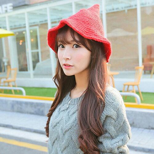 毛帽 尖尖漁夫帽針織毛帽【QI1379】 BOBI  10/13 0